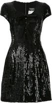 Chanel Pre Owned Short Sleeve One Piece Dress
