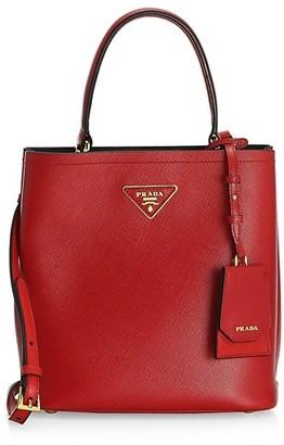 Prada Double Leather Bucket Bag