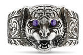 Gucci Feline head ring in silver