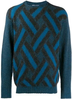 Drumohr A.N.G.E.L.O. Vintage Cult 1970's cashmere geometric jumper