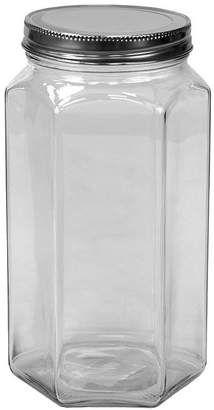 Hds Trading Corp Large Hexagon Glass Canister