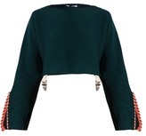 Toga Whipstitch-trimmed cotton-blend cropped sweater