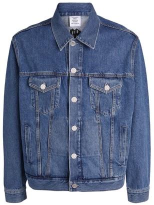 Vetements Gothic Logo Denim Jacket