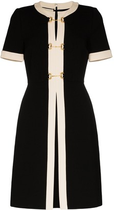Gucci Contrast Trim Metal Link Dress