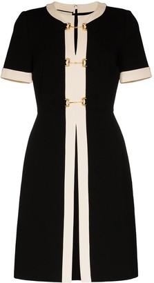 Gucci contrast trim metal link dress