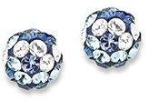 S'Oliver Children and Teenagers Earrings Made with Swarovski Elements 925 Silver 487245 blue