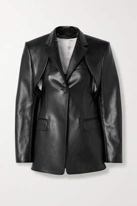 Peter Do Convertible Faux Leather Blazer - Black