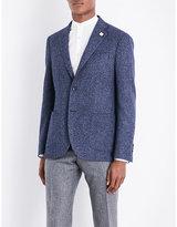 Lardini Hopsack-weave Tailored-fit Wool Jacket
