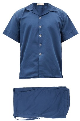 Cleverly Laundry - Superfine-cotton Sateen Pyjama Set - Navy