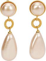One Kings Lane Vintage 1980s Chanel Pearl Drop Earrings