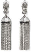 Vince Camuto Crystal Pave Tassel Drop Clip-On Earrings