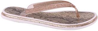 Selina Women's Sandals CHAMPAGNE - Champagne Rhinestone Flip-Flop - Women