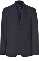 Marc by Marc Jacobs Dark Navy Cotton-Linen Suiting Blazer