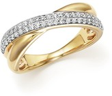 Bloomingdale's Diamond Pave Crossover Band in 14K Yellow Gold, .30 ct. t.w. - 100% Exclusive