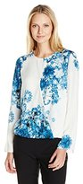 Adrianna Papell Women's Printed Crossover Top
