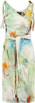 Vivienne Westwood Printed linen-blend wrap dress