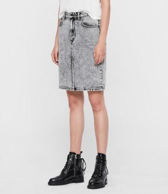 AllSaints Nara Denim Pencil Skirt