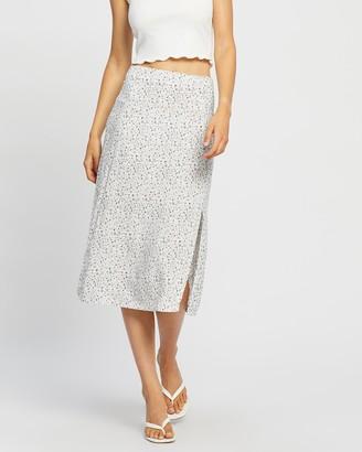 All About Eve Women's White Midi Skirts - Keepsake Split Midi Skirt - Size One Size, 6 at The Iconic