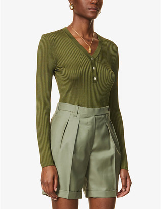Giuliva Heritage Collection Amelia ribbed jersey top