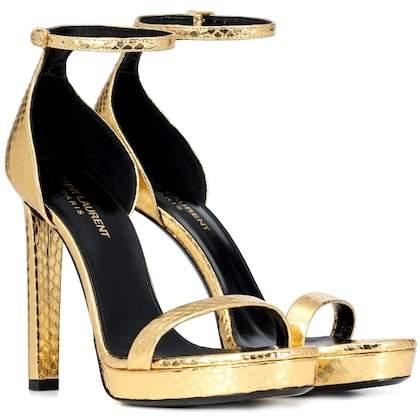 Saint Laurent Hall snakeskin sandals