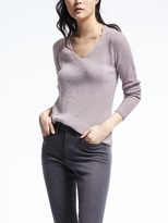 Banana Republic Todd & Duncan Twist Back Cashmere Vee
