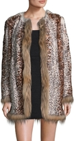 RED Valentino Rabbit Fur and Asiatic Raccoon Fur Coat