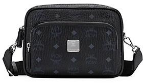 MCM Visetos Leather Trimmed Crossbody Bag