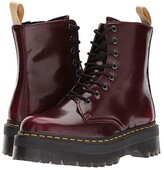 Dr. Martens Vegan Jadon II 8-Eye Boot (Cherry Red Cambridge Brush) Women's Boots