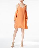 Rachel Roy Strappy Cold-Shoulder Shift Dress