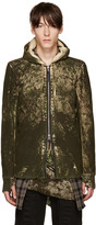 11 By Boris Bidjan Saberi Green Camo Wash Hoodie