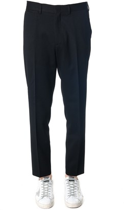 McQ Black Color Wool Blend Tailored Trousers
