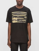 Black Scale Tiger Camo Rebel Flag S/S T-Shirt