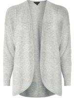 Dorothy Perkins Womens Grey Ribbed Cardigan- Grey