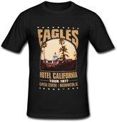 JIUDUIDODO Men's Crew Neck Cotton Eagles Rock Band T-Shirt XL