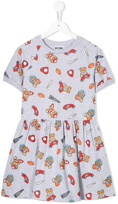 MOSCHINO BAMBINO Sports Teddy Bear Dress