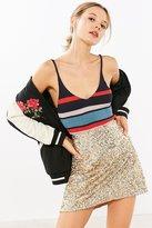 Silence & Noise Silence + Noise Sparkle Stripe Sweater Cami