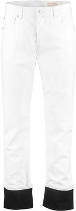 Alexander McQueen Contrast Turn-up Straight-leg Jeans
