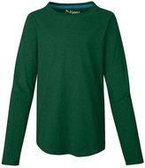 Hanes Girls` V-Notch Shirttail Long-Sleeve Crewneck T-Shirt, K249, M