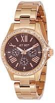 Jet Set J5982R - 722-Like Women's Quartz Analogue Watch-Brown Face-Steel Strap-Pink