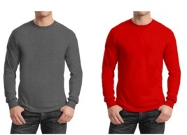 Galaxy By Harvic Men's 2-Pack Egyptian Cotton-Blend Long Sleeve Crew Neck Tee