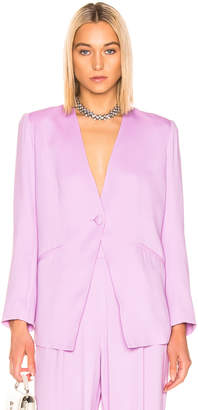 Mason by Michelle Mason Collarless Jacket in Lilac   FWRD