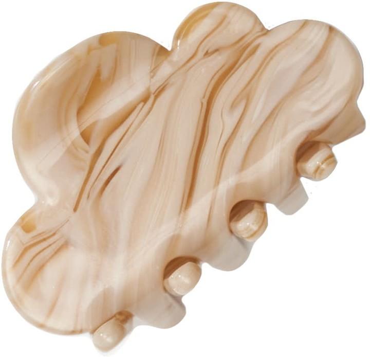 Mini Cloud Hair Claw In Cream