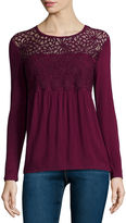 i jeans by Buffalo Long-Sleeve Crochet Top