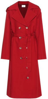 KHAITE Lauren cotton trench coat