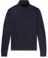 Todd Snyder Cashmere Rollneck Sweater - Midnight blue