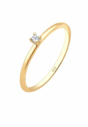 Diamore (Diaov) Diamore Women's 585 Yellow Gold Diamond Solitaire Engagement Ring Size 52