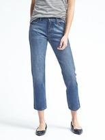 Banana Republic White Oak High-Rise Medium Wash Vintage Straight Jean