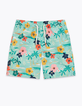 Marks and Spencer Tropical Print Swim Shorts (2-7 Yrs)