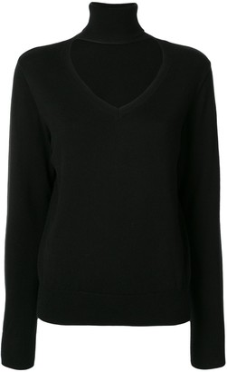 G.V.G.V. Cut-Out High-Neck Jumper