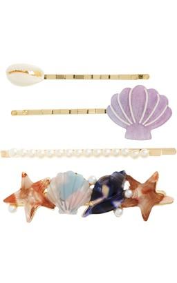 BP 4-Pack Shell & Imitation Pearl Bobby Pins